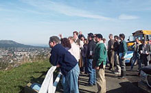 Forum members overlooking the Bowker Creek watershed from Mount Tolmie