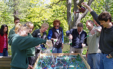 The interactive watershed model helps kids and adults learn about preventing pollution in the Bowker Creek watershedAngusStewartphoto
