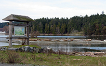 Interpretive sign at Esquimalt Lagoon
