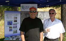 Representatives manning the GWI display at Canada Day on the Gorge.