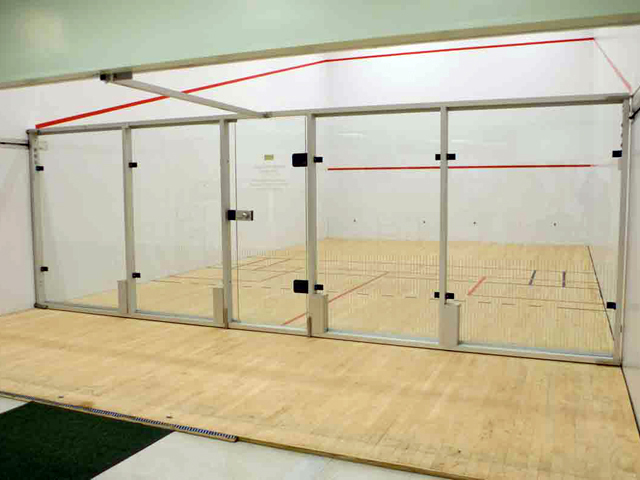 Pictorial tour crd for Average cost racquetball court
