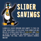 Slider savings website images